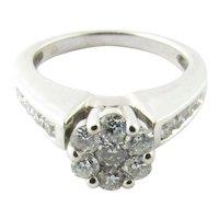 Vintage 10 Karat White Gold Diamond Engagement Ring Size 5