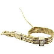Antique Victorian 14 Karat Yellow Gold Adjustable Belt Ring