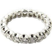 Vintage 14 Karat White Gold Diamond Eternity Band Size 5.25