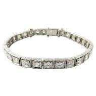 Vintage 14K White Gold Diamond Tennis Bracelet 3.10cts