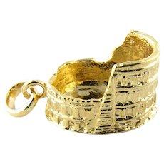 Vintage 18 Karat Yellow Gold Roman Coliseum Charm