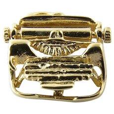Vintage 14 Karat Yellow Gold Typewriter Charm