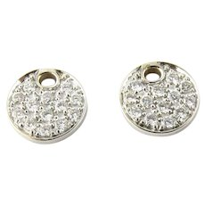 Vintage 14 Karat White Gold and Diamond Earring Charms