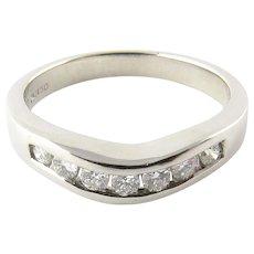 Vintage Platinum and Diamond Wedding Band Size 6.0