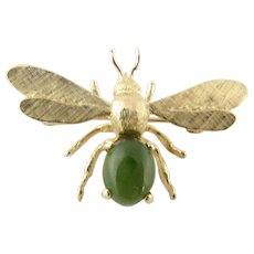 Vintage 14 Karat Yellow Gold Dragonfly Brooch/Pin