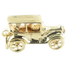 Vintage 14 Karat Yellow Gold Model T Ford Car Charm