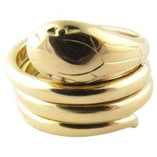 Vintage 14 Karat Yellow Gold Snake Ring Size 5