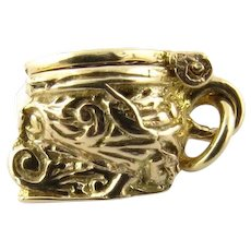 Vintage 14 Karat Yellow Gold Commode Charm