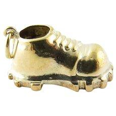 Vintage 14 Karat Yellow Gold Hiking Boot Charm