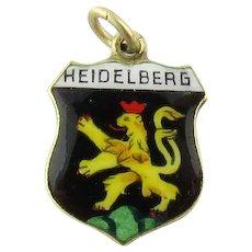 Vintage 14 Karat Yellow Gold and Enamel Heidelberg Germany Charm