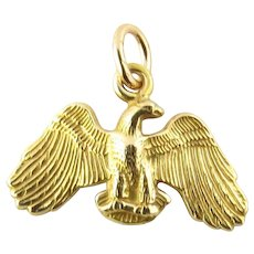 Vintage 14 Karat Yellow Gold Eagle Charm