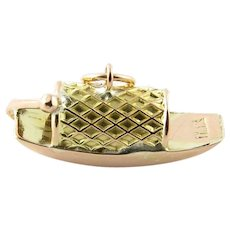 Vintage 14 Karat Yellow Gold Chinese Fishing Boat Charm