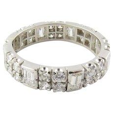 Vintage Platinum and Diamond Wedding Band Size 7.75
