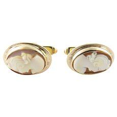 Vintage 14 Karat Yellow Gold Cameo Cufflinks