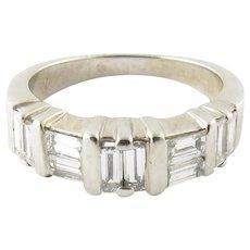 Vintage 14 Karat White Gold Diamond Wedding Band Size 5.5