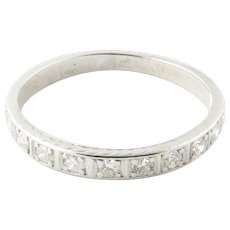 Vintage Platinum Diamond Wedding Band Size 7.75