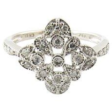 Vintage 14 Karat White Gold and Diamond Ring Size 7