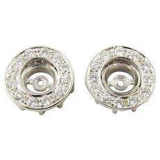 Vintage 14 Karat White Gold Diamond Earring Jackets