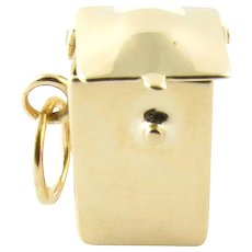 Vintage 14 Karat Yellow Gold Hinged Container Charm