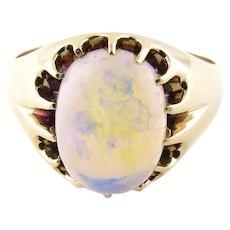 Vintage 10 Karat Yellow Gold Opal Ring Size 7