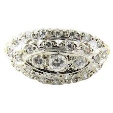 Vintage 14 Karat Yellow Gold Diamond Ring Size 4