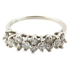 Vintage 14 Karat White Gold Diamond Ring Size 8.5