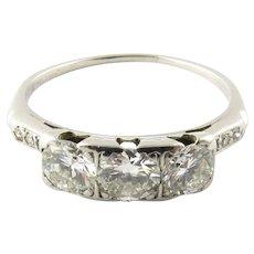 Vintage Platinum and Diamond Ring Size 7.5