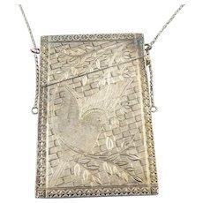 Antique Victorian Silver Coin Metal Calling Card Case