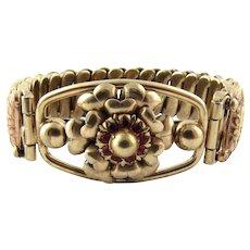 Vintage Louis Stern 12 Karat Gold Filled over Sterling Silver Expansion Bracelet
