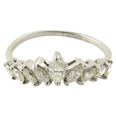 Vintage Platinum Marquis Diamond Ring Size 8.75