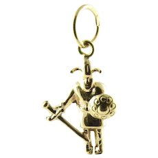 Vintage 14 Karat Yellow Gold Viking Charm