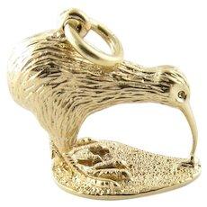 Vintage 14 Karat Yellow Gold Kiwi Bird Charm