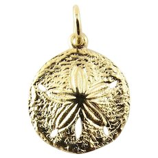 Vintage 14 Karat Yellow Gold Sand Dollar Charm
