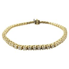 Vintage 14 Karat Yellow Gold Diamond Tennis Bracelet 1.71 cts. twt.