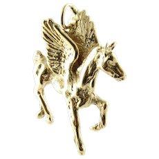 Vintage 14 Karat Yellow Gold Pegasus Pendant