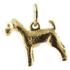 Vintage 10 Karat Yellow Gold Terrier Dog Charm
