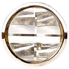 Vintage Jorma Laine for Turun Hopea 830 Silver Crystal Ring