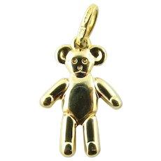 Vintage 14 Karat Yellow Gold Teddy Bear Charm