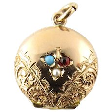 Vintage 10 Karat Yellow Gold Locket Pendant