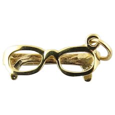 Vintage 14 Karat Yellow Gold Eyeglasses Charm