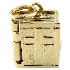 Vintage 14 Karat Yellow Gold Bible Charm