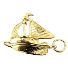 Vintage 9 Karat Yellow Gold Bermuda Sailboat Charm