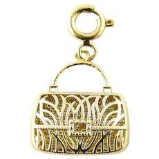 Vintage 14 Karat Yellow Gold Handbag Charm