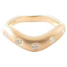 Vintage 14 Karat Rose Gold and Diamond Ring Size 6.25