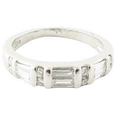 Vintage Platinum and Diamond Wedding Band Size 5