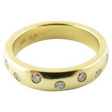Vintage 18 Karat Yellow Gold and Diamond Wedding Band SIze 6