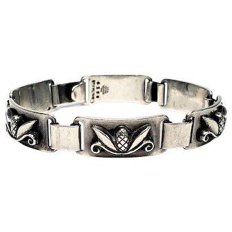 Vintage Georg Jensen Inc USA by Laurence Foss Sterling Silver Pine Cone Link Bracelet 419B