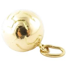 Vintage 18 Karat Yellow Gold Soccer Ball Charm