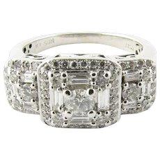 Vintage 14 Karat White Gold Diamond Ring Size 5.5