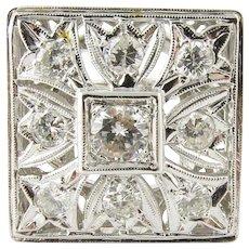 Vintage 14 Karat White Gold Diamond Ring Size 5